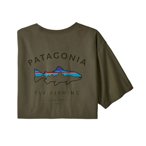 Ms Framed Fitz Roy Trout Organic-Tee
